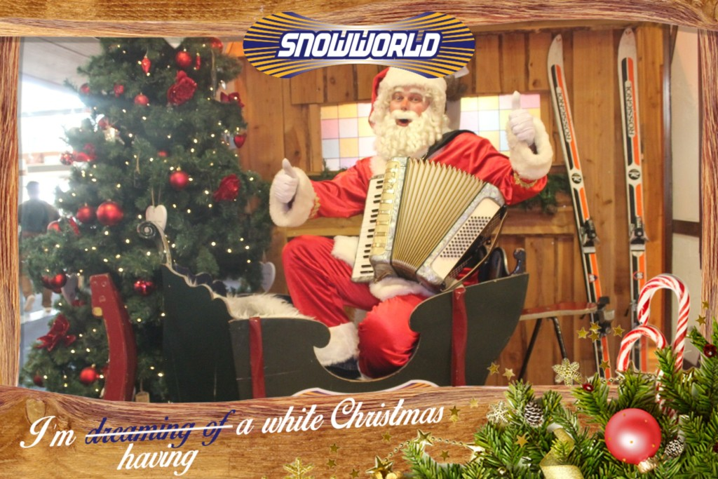 Muzikale kerstman in Snowworld